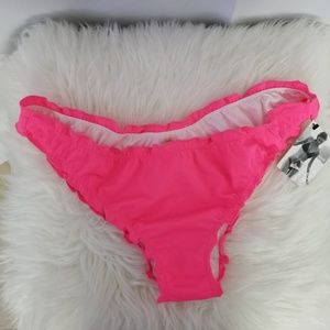 Victoria's Secret Ruched Brazilian Bikini Bottom